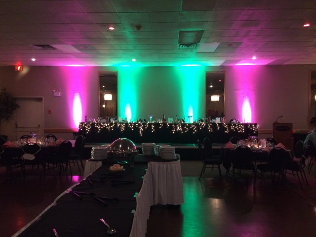 Heritage Inn Taber Pink and Green Uplights (2)